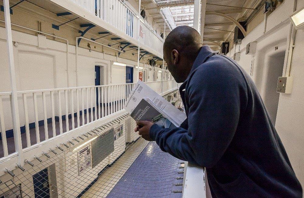 Man on prison wing