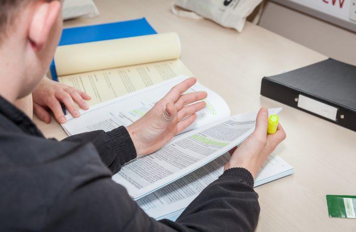 man studying 2